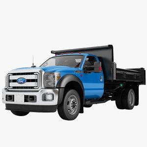f450 2012 flatbed 3D model