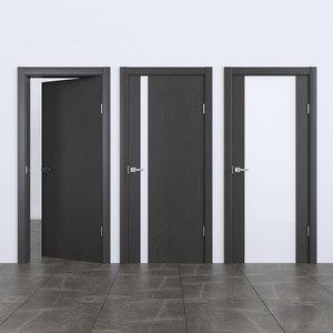 3D interior doors rada wenge model