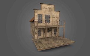 saloon western west 3D model