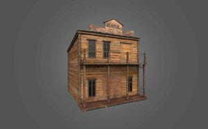 3D western bank model