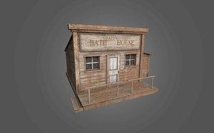 3D model western bath house