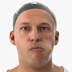 3D model marcus human head tongue