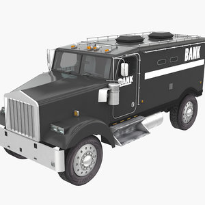 armored car bank 3D