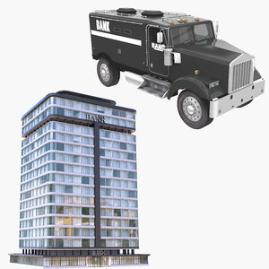 bank armored car 3D
