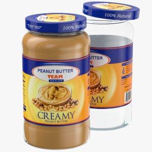 peanut butter glass jar 3D model