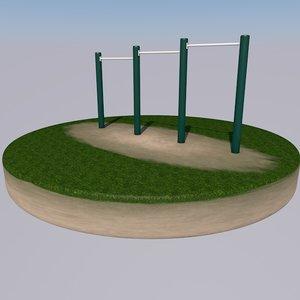 3D model bars exercise