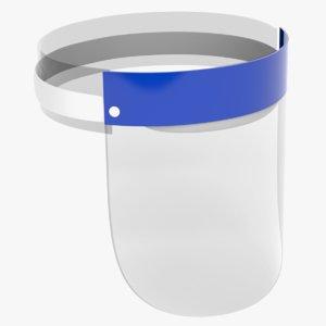 3D model face shield