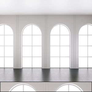 3D wall panel set 137 model