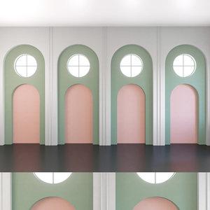 3D wall panel set 140