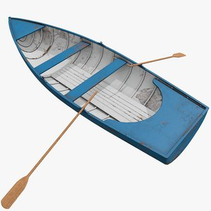 pbr rowing boat model