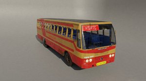 ksrtc ashok leyland 3D model
