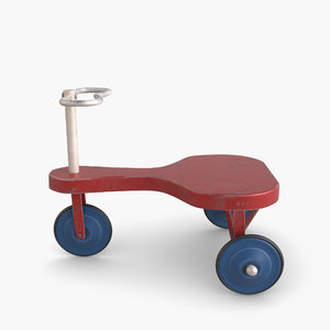 modeled tricycle old 3D