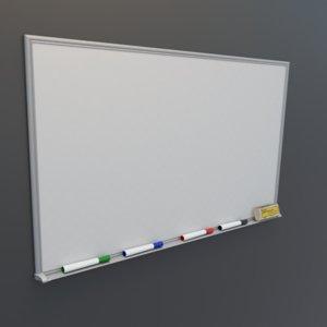 whiteboard office white 3D model