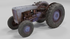 old tractor 3D