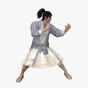 kung fu fighter 3D model