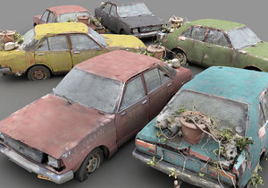 classic wreck pack 3D model