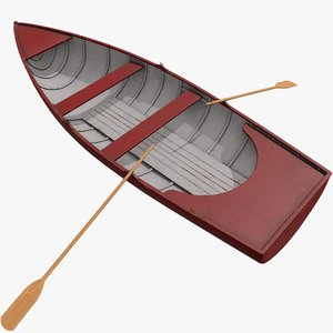 pbr rowing boat 3D