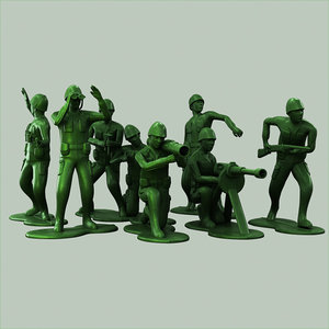 3d toy soldiers model