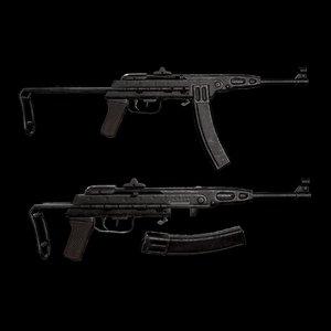 3D model vietnam rifle k-50m