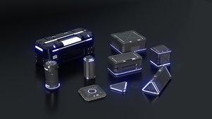 sci-fi crates - model