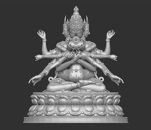 3D model tibetan buddha