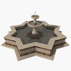 oriental fountain 3D model
