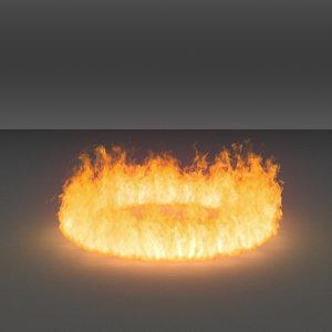 burning flames 11 vdb 3D model