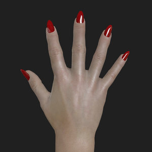 rigged woman right hand 3D
