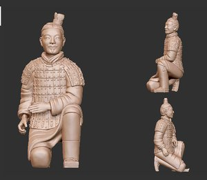 terra-cotta warrior 3D model