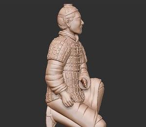 terra-cotta warrior 3D model