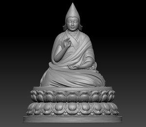 living buddha tibet 3D