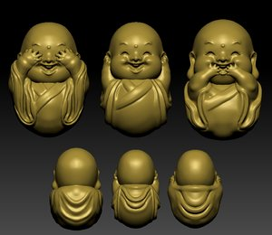 3D little monk