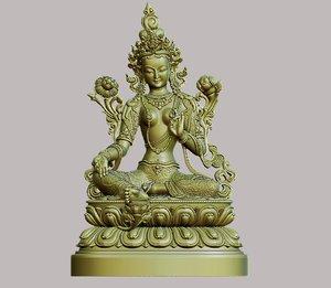 tibetan buddha 3D