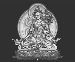 tibetan buddha tibet 3D model
