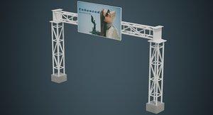 3D model entrance 1a