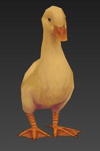 3D duck model