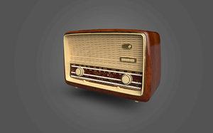 3D model antique radio