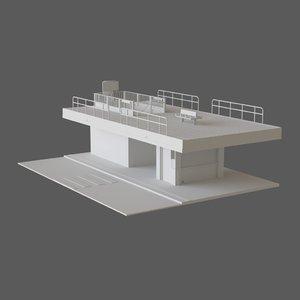 3D station kiosk
