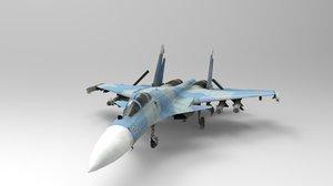 3D sukhoi su-37