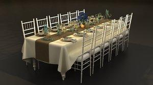 3D model 12 pax table