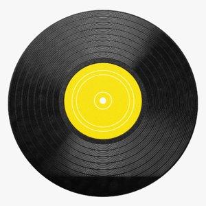vinyl record 1 3D
