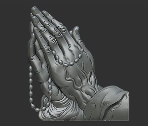 3D praying hands