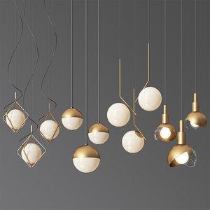 - 5 led light 3D model