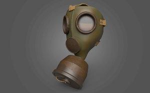 vintage gas mask 3D model