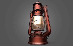 3D model lamp gas old