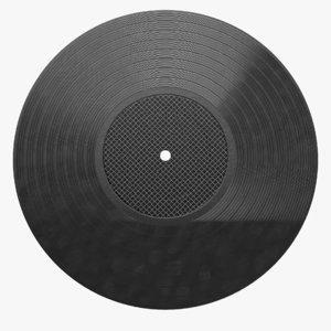 vinyl record 2 3D