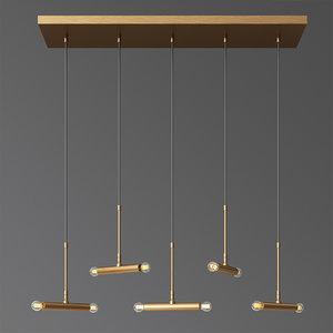 pendant lamp dining cluster 3D model