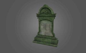 grave stone cemetery 5 3D