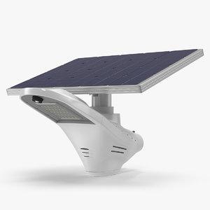 3D solar led street light