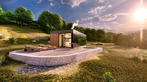 modern mobile home vacation 3D model